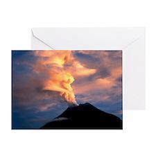 Tunguragua volcano - Greeting Card