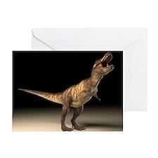 Tyrannosaurus rex dinosaur - Greeting Card