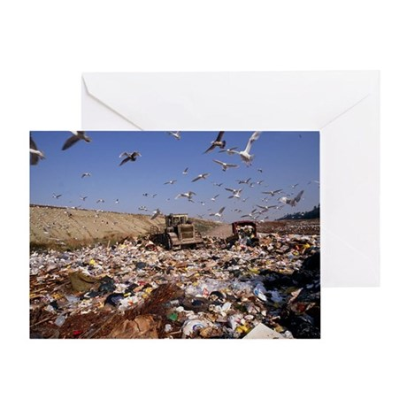 View of a waste landfill site - Greeting Card