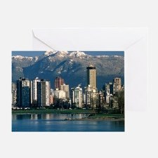View of Vancouver, Canada - Greeting Card