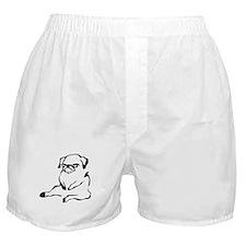 sitting pug.png Boxer Shorts