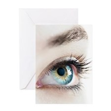 Woman's eye - Greeting Card