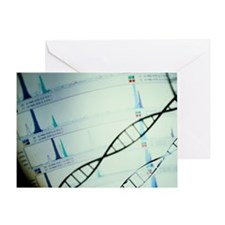 DNA and a genetic sequence - Greeting Card