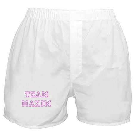 Pink team Maxim Boxer Shorts