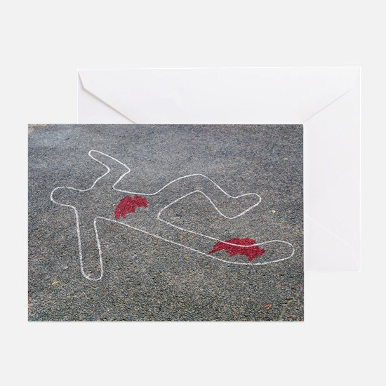 Body oultine - Greeting Card