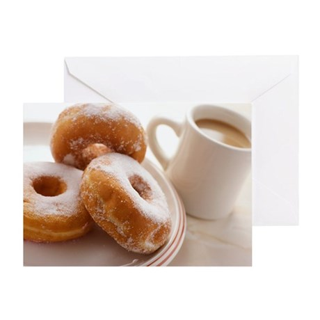 Coffee and doughnuts - Greeting Card