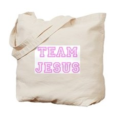 Pink team Jesus Tote Bag