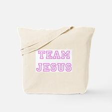 Pink team Jesus Tote Bag