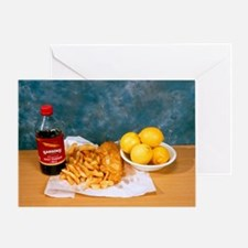 Fish and chips - Greeting Card