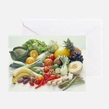 Fruits and vegetables - Greeting Card