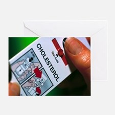 Blood cholesterol testing - Greeting Card
