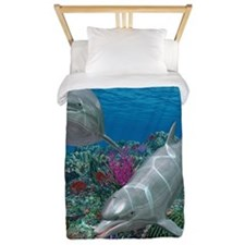 Dolphins Twin Duvet