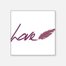 """Love Square Sticker 3"""" x 3"""""""