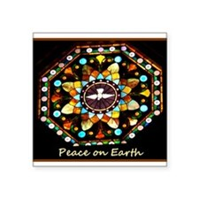 "Peace on Earth! Photo! Square Sticker 3"" x 3"""