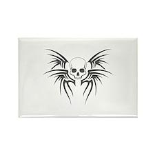 Tribal Skull Rectangle Magnet
