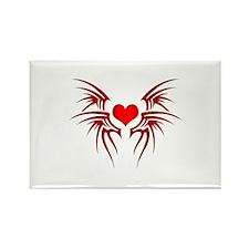 Heart tattoo tribal Rectangle Magnet (10 pack)