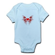 Heart tattoo tribal Infant Bodysuit