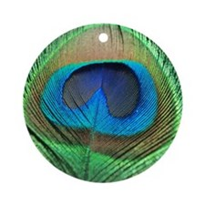 Peacock Feather Ornament (Round)