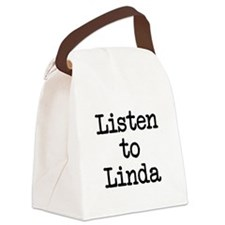 Listen to Linda Canvas Lunch Bag