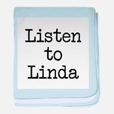 Listen to Linda baby blanket