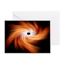 Black hole, artwork - Greeting Card