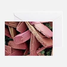 Blood clot crystals, SEM - Greeting Card