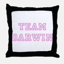 Pink team Darwin Throw Pillow