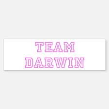 Pink team Darwin Bumper Bumper Bumper Sticker