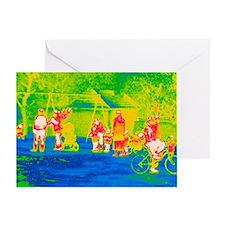 Children's playground, thermogram - Greeting Card