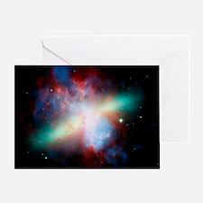 Cigar galaxy (M82), composite image - Greeting Car