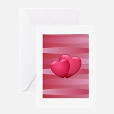 Cute lover hearts valentine Greeting Cards