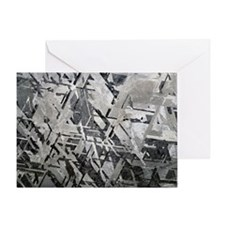 Crystal structures in meteorite - Greeting Card