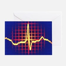 ECG trace - Greeting Card