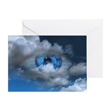 Eye and clouds - Greeting Card