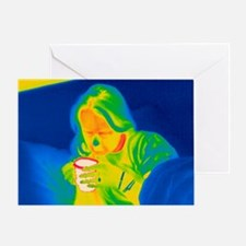 Hot drink, thermogram - Greeting Card