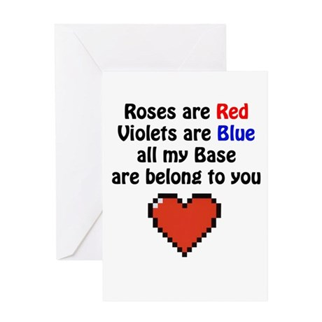Roses Base Greeting Card