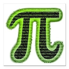 "Pi Square Car Magnet 3"" x 3"""