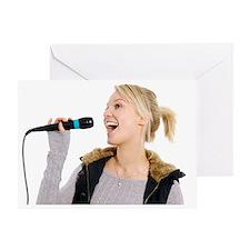 Karaoke - Greeting Card