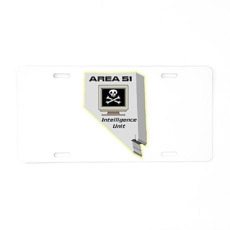 Area 51 Intelligence Unit Aluminum License Plate