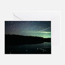Meteor over lake - Greeting Card