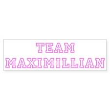 Pink team Maximillian Bumper Bumper Sticker