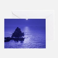 Moon over water - Greeting Card