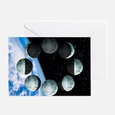 Phases of the Moon - Greeting Card