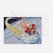 Santa Claus on asteroid - Greeting Card