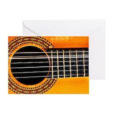 Guitar string vibrating - Greeting Card