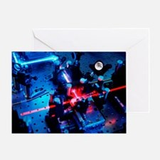 Quantum cryptography equipment - Greeting Card