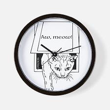 OYOOS Aw Meow Cat design Wall Clock