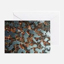 Stony-iron meteorite - Greeting Card