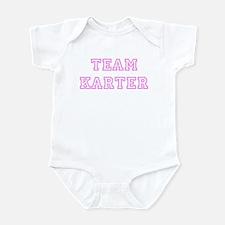 Pink team Karter Infant Bodysuit