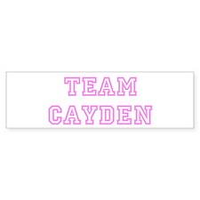 Pink team Cayden Bumper Bumper Sticker